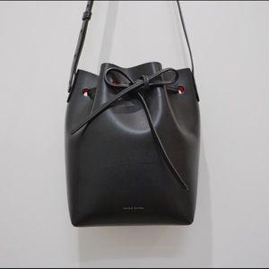 Mansur Gavriel Mini Bucket Bag Black Flamma